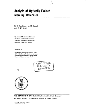 Analysis of Optically Excited Mercury Molecules