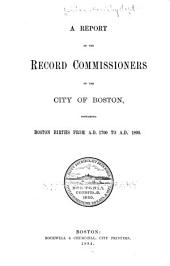 Boston Births from A.D. 1700 to A.D. 1800: Volume 24