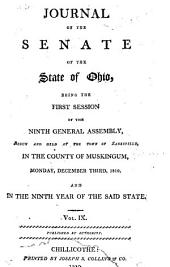 Journal of the Senate of the State of Ohio: Volume 9, Issue 1