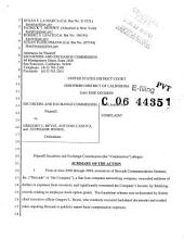 Gregory L. Reyes, et al.: Securities and Exchange Commission Litigation Complaint