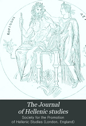 The Journal of Hellenic Studies: Volume 9