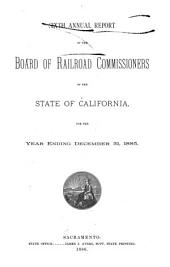 Annual Report of the Board of Railroad Commissioners of the State of California: Volume 6