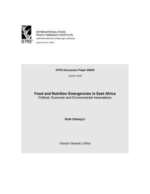 Food and nutrition emergencies in East Africa: Political, economic and environmental associations