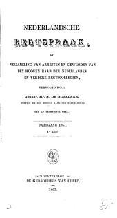 Netherlandsche rechtspraak, of Verzameling van arresten en gewijsden van den Hoogen raad der Nederlanden