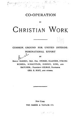 Co operation in Christian Work PDF