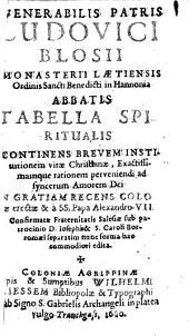 Tabella spiritualis ... pro institut. vitae Christian