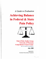 Achieving Balance in Federal and State Pain Policy