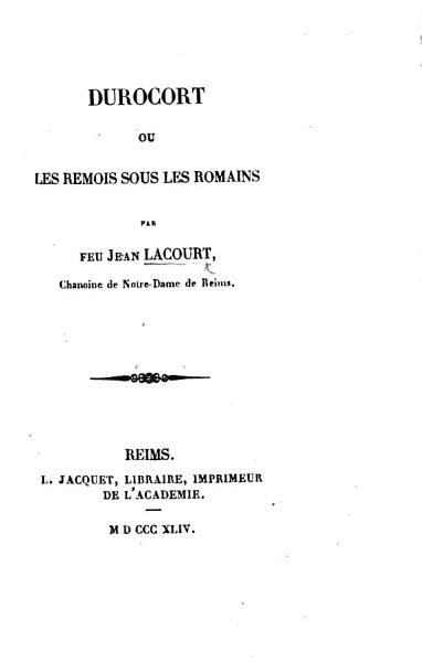 Download Durscort  ou les Remois sous les Romains   Edited by L  Paris   Book