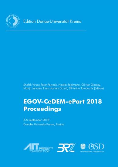 Proceedings of the International Conference EGOV CeDEM ePart 2018 PDF