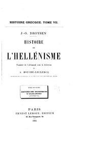 Histoire de l'hellénisme: Histoire des successeurs d'Alexandre (Diadoques)
