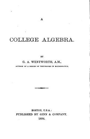 A College Algebra PDF
