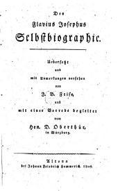 Des Flavius Josephus Selbstbiographie