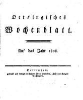 Oettingisches Wochenblatt PDF
