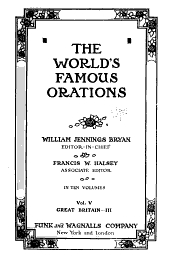 The World's Famous Orations: Volume 5