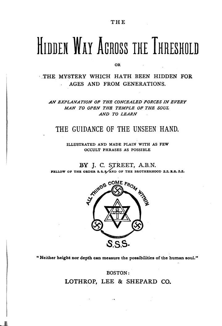The Hidden Way Across the Threshold