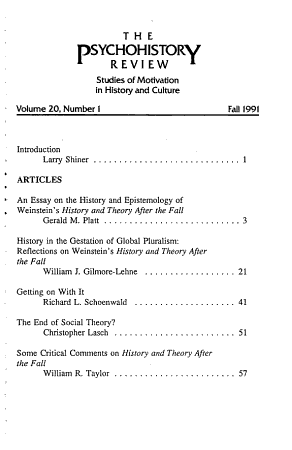 The Psychohistory Review PDF