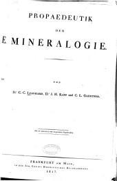 Propaedeutik der mineralogie