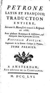 Petrone, latin et françois: Volume1