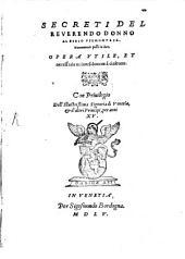 Secreti del Reverendo Donno Alessio Piemontese
