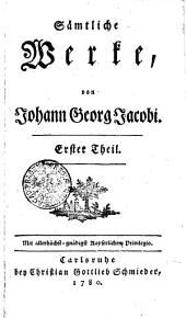 Sämtliche Werke: Erster Theil, Band 104