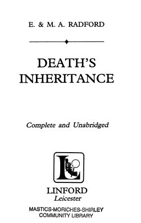 Death s Inheritance PDF