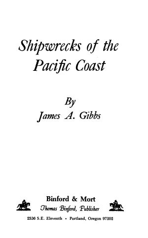Shipwrecks of the Pacific Coast PDF