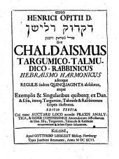 Chaldaismus targumico-Rabbinicus Hebraismo Wasmuthiano harmonicus