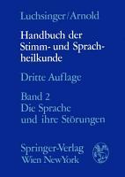 Handbuch der Stimm  und Sprachheilkunde PDF