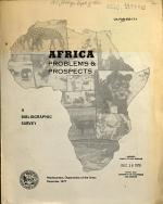 Africa, Problems & Prospects