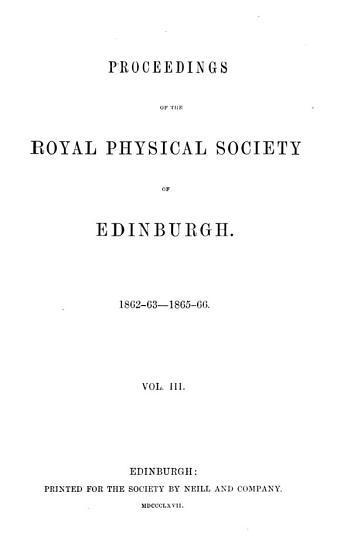 Proceedings of the Royal Physical Society of Edinburgh PDF