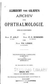 Albrecht von Graefes Archiv für klinische und experimentelle Ophthalmologie: Band 19,Ausgabe 2
