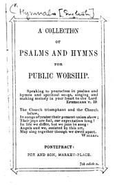 A Collection of Psalms and Hymns for Public Worship ... 7th edition