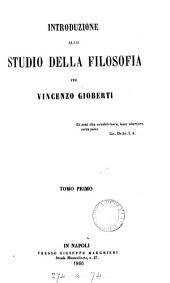 Introduzione allo studio della filosofia: Volumi 1-2