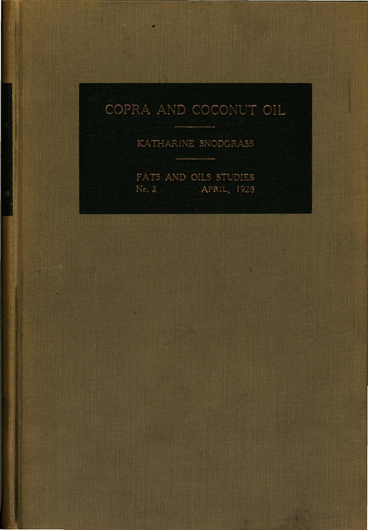 Copra and Coconut Oil