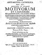 Anti-Motiva catholica