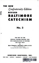 FATHER CONNELL'S CONFRATERNITY EDITION NEW BALTIMORE CATECHISM NO. 3