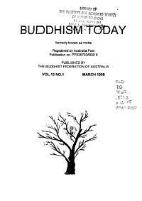 Buddhism Today  formerly Known as Metta  PDF