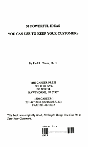 50 simple things you can do to save your customers Book