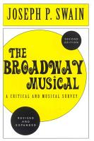 The Broadway Musical  A Critical and Musical Survey PDF