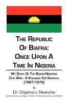 The Republic of Biafra  Once Upon a Time in Nigeria PDF