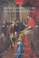 Music and Culture in Late Renaissance Italy PDF