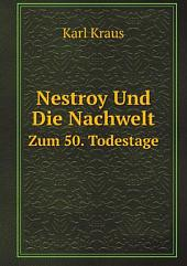 Nestroy Und Die Nachwelt