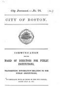 Communication     transmitting information relating to the Public Institutions  in compliance with an order of the City Council  dated July 24  1871 PDF