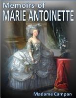 Memoirs of Marie Antoinette PDF