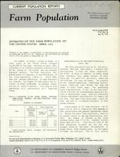 Estimates of the Farm Population of the United States, April 1963: Volume 3