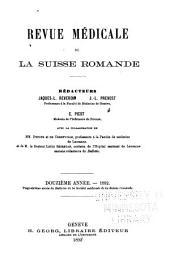 Revue médicale de la Suisse romande: Volume12