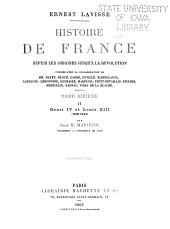 Histoire de France depuis les origines jusqu'à la révolution: ptie. I. La réforme et la ligue. L'édit de Nantes (1559-1598) par J. H. Mariéjol