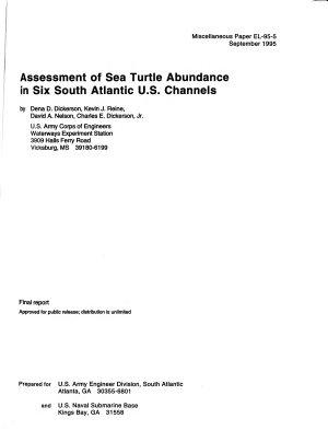 Assessment of Sea Turtle Abundance in Six South Atlantic U S  Channels PDF