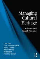 Managing Cultural Heritage PDF