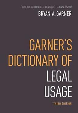 Garner s Dictionary of Legal Usage PDF